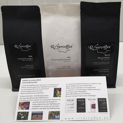 Kaffee- und Espressobohnen von Rivercoffee