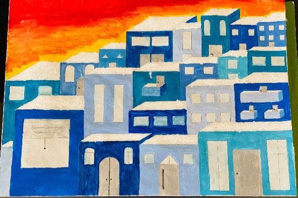 """""""Die blaue Stadt"""" - Kathrin, 5b"""