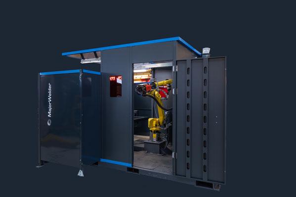 Packshot - photo de machine réalisée dans l'atelier de chez Commercy Robotique - machine détourée sur fond gris