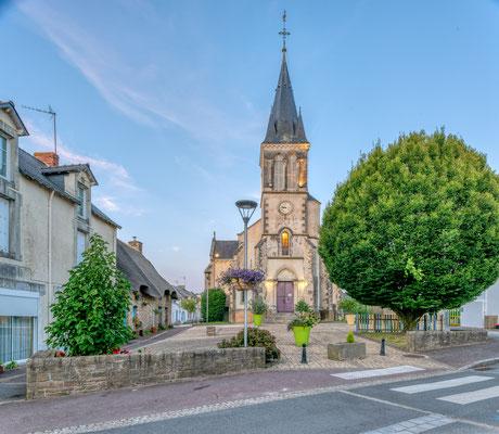 Camoël - nuit - villages - Bretagne - église - rue