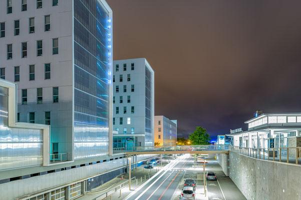 Saint-Nazaire 1  - Vue du quartier de la gare de nuit