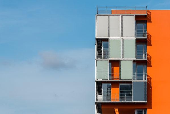 Nantes 17 -  Détail d'un immeuble