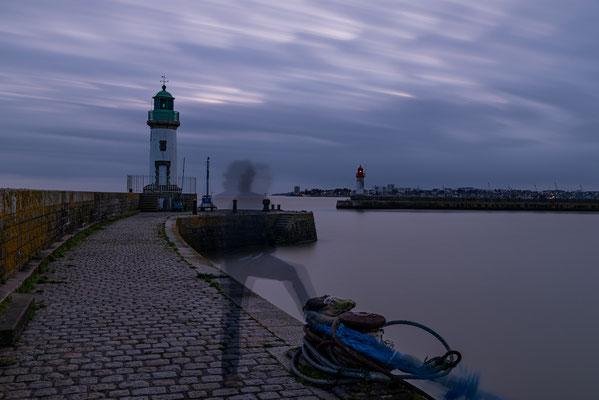 Saint-Nazaire 16 - Vue du phare le soir
