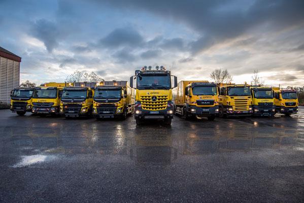 Illustration du savoir-faire - Flotte de camions