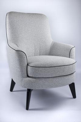 Packshot - photo d'un fauteuil réalisée dans le show-room des Meubles Brignier