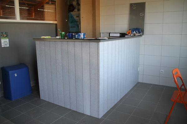 création d'un bar/comptoir.