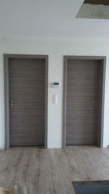 Portes à battées fil du bois horizontal