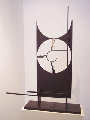 FONDO DE OJO. 2007. 98 x 82 x 12 cm. Hierro