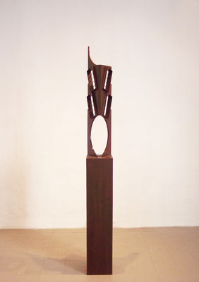 INTERIORES. 2007. 193,5 x 22 x 22 cm.   Hierro.
