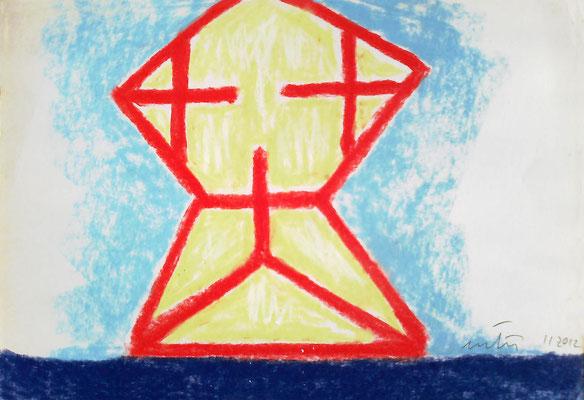 2012. 31,5 x 21,5 cm. Ceras sobre cartón.