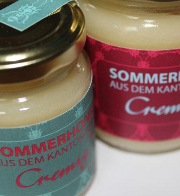 Etikette für Honig des Stadtberner Imkers.