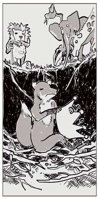 """Ausschnitt aus meiner Comic Werkstatt """"der blinde König""""."""
