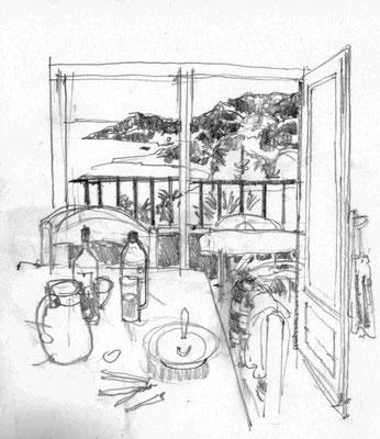 Blick auf die Suppe, bzw. die Bucht von Arone/Korsika.