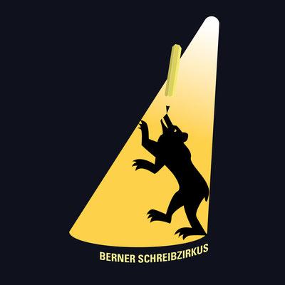 Flyer für den Berner Schreibzirkus.