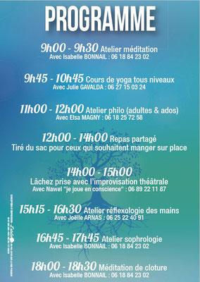 Programme méditation, atelier philo, lachez prise par l'improvisation théatrale