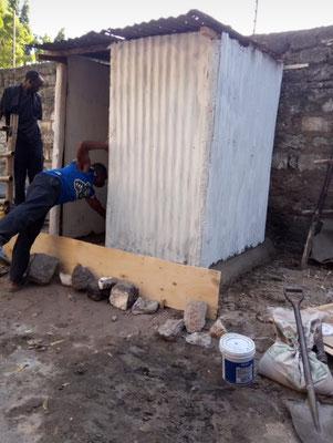 Bau der neuen Toilette