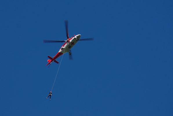Übungsflug der Bergwacht
