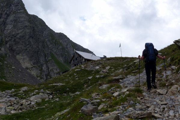 Die letzten Meter vor der Hütte