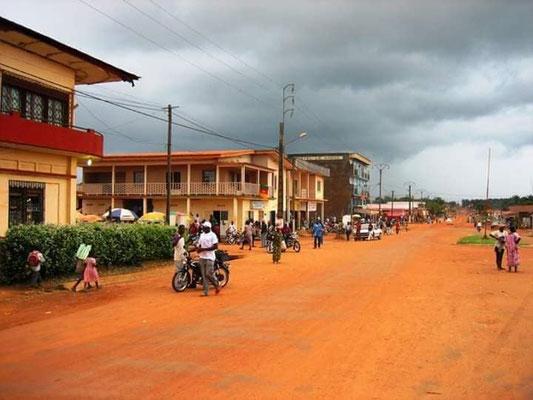 Akonolinga. Une vue de la ville