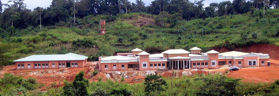 Okola - Le MICEI, Hopital ophtalmologique d'Oback en construction