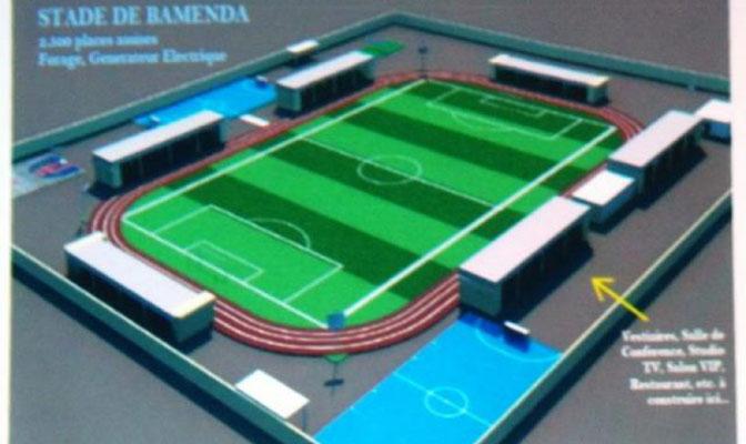 Maquette du stade de Bamenda