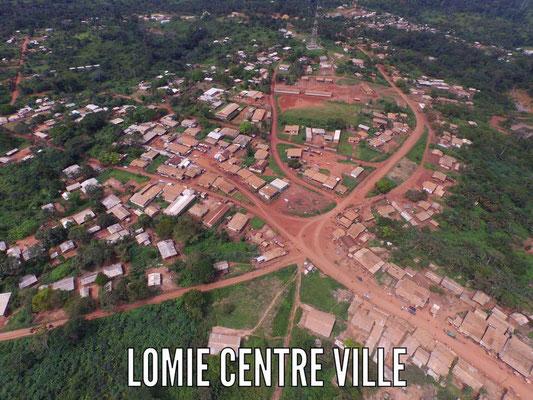 Lomié, vue aérienne générale