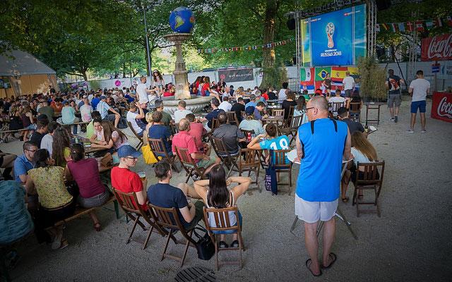 Public Viewing WM 2018 in entspannter Atmosphäre für einen guten Zweck.