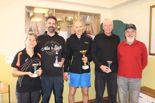 Bewerb bis 700 Punkte - 1. Roland Reisch, 2. Mario Morocutti, 3. Jutta Riha-Aigner, 3. Alfred Henschl