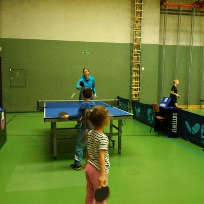 Ein wenig Zeit fürs Training fanden auch Simon Wilder und Natalia Kolodziejczyk.