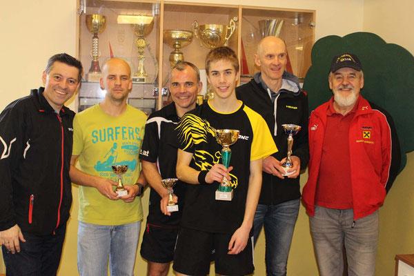 Bewerb bis 900 Punkte - 1. Christian Ritter, 2. Roland Reisch, 3. Robert Jandl, 3. Thomas Wustinger
