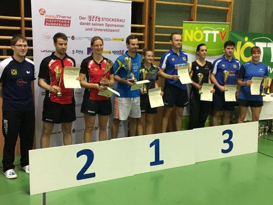 Siegerehrung Mixed-Doppel