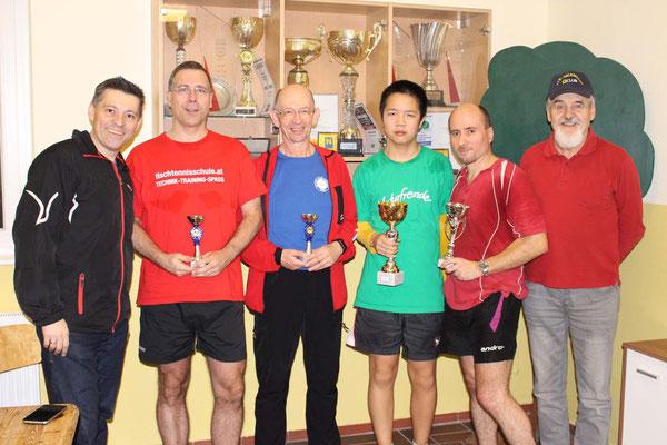 Bewerb bis 1.100 Punkte - 1. Eric Tang, 2. Roland Dorner, 3. Karl Krajic, 3. Christian Börner