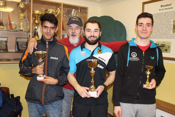 Bewerb bis 2.000 Punkte - 1 . Platz Michael Kufmüller, 2. Platz Ugljesa Lukic, 3. Manuel Fischer