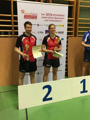 Platz zwei! Martina Wilder und Martin Kinslechner sorgten für den Vizelandesmeistertitel der Sierndorfer im Mixed-Doppel!