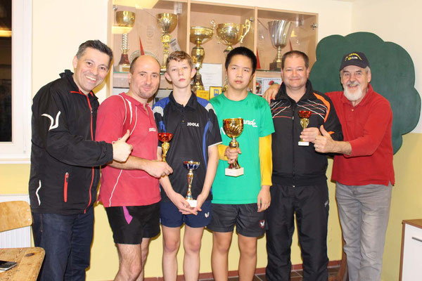 Bewerb bis 1.300 Punkte - 1. Eric Tang, 2. Manfred Schuhmacher, 3. Mario Riha, 3. Roland Dorner