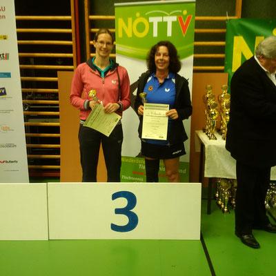 Martina Wilder und Roswitha Balogh kamen auf Platz drei im Damen-Doppel.