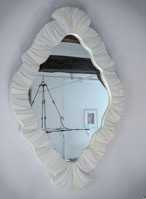 miroir blanc d' ivoire