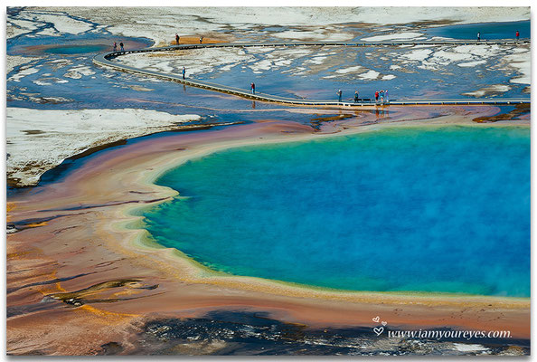 Details from above, Grand Prismatic Spring, Midway Geyser Basin