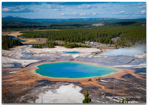 Grand Prismatic Spring Overlook, Midway Geyser Basin