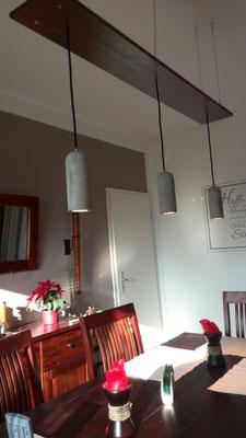 Betonlampen, Betonlampe, 3er Pendelleuchte aus Beton