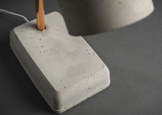 concrete lamp, bedside lamp