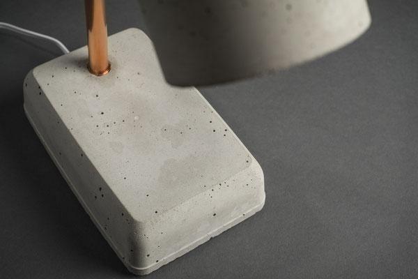 Smart Concrete LED Nachttischlampe aus Beton