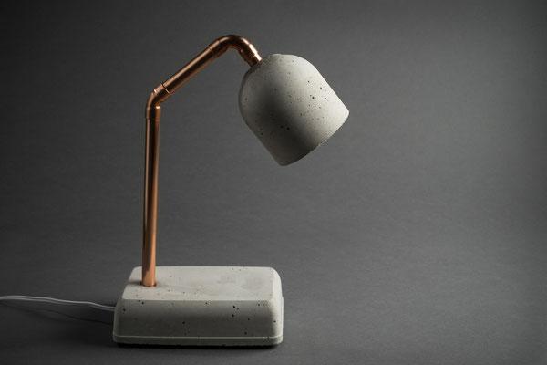 Beton Nachttischlampe mit LED