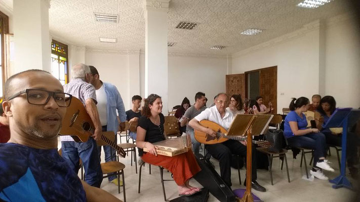 Répétition au conservatoire de Kouba, avec l'association El Djazira