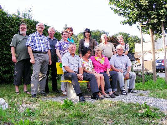 Vorstand mit dem Gemeindepräsident Toni Probst und Vertreter des Gemeinderates
