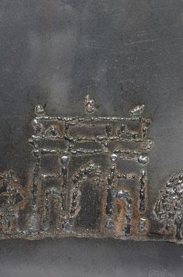La Milano del Passato, 2015, 35 x 27 cm, Ferro