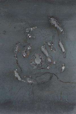 Caos II, 2015, 35 x 27 cm, Ferro