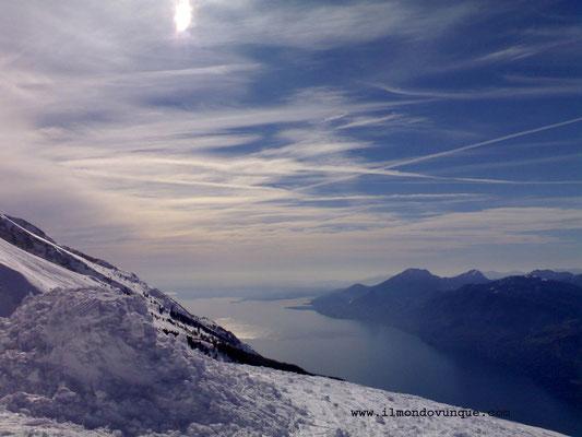dal monte Baldo il lago di Garda