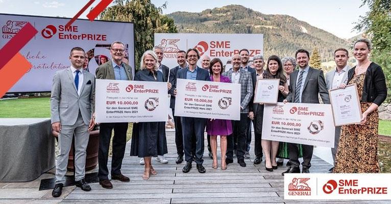 Gewinner des Generali SME EnterPRIZE 2021