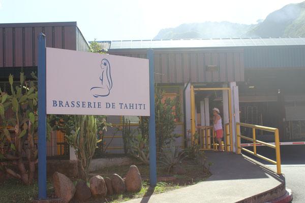 Entrée de la Brasserie située sur une zone industrielle